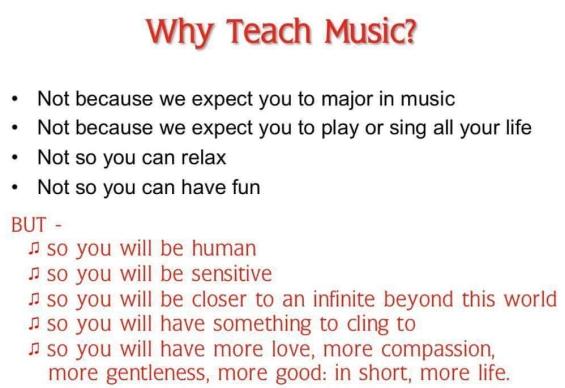 Why Teach Music